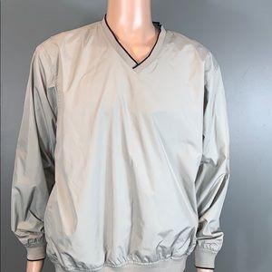 Izod Mens Cream Golf Pullover Jacket SZ.L